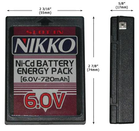 Nikko 6.0V Ni-Cd Battery 1760