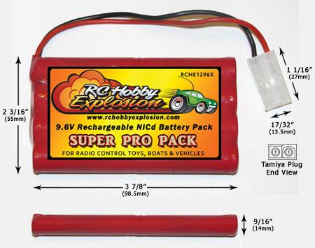 Nikko 9.6V Ni-Cd Battery 1296